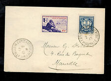 1943 Marseille France Cover Waffen SS Foreign Legion Volunteer Stamps Cancel LVF