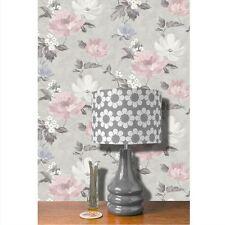 RENOIR FLORAL WALLPAPER FLOWERS - GREY / BLUSH PINK - ARTHOUSE 650500