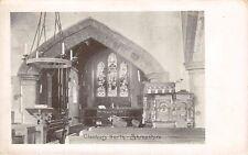 Shrops - CLEOBURY NORTH, Church Interior View,  Printed Card by Wilding # 936