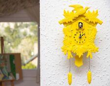 Walplus Yellow Cuckoo Clock Art Home Children Room Decoration UK 2year warranty