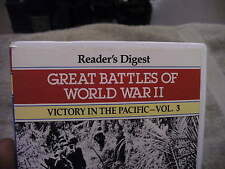 Reader's Digest Great Battles of WW2 Victory in The Pacific Vol. 3 VHS Tape