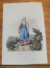 1813 Antique Print of Austria Costumes///WHAT IS THAT TO THE SIDE?