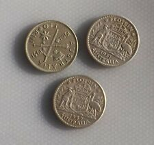 very nice small  lot of  3 silver Australian florins