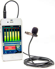 Azden EX-503i Lapel Microphone for Smartphones Tablets iOS Android Clip-On