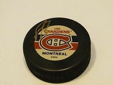 Les Canadiens Montreal NHL Hockey official VEGUM signed puck RARE made Slovakia