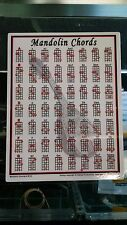 Mandolin Chord Chart Portable Note Teaching Best Beginner Diagrams 8.5 x 11 8113