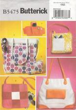 Butterick 5475 Sewing Pattern Uncut Tote Bags & Wrist Wallet 6 Designs