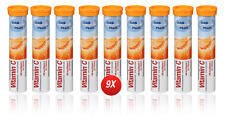 9x Vitamin C Effervescent 180 Tablets Dietary Supplement Healthy Immune System