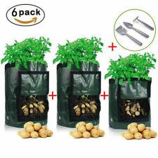 6pcs Potato Planting Bags Grow Pots Vegetable Growing Garden Supplies Home Yard
