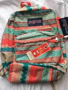 NWT Jansport Digibreak Malt Tan Boho Backpack
