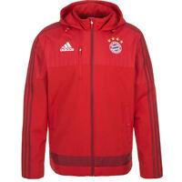 adidas FC Bayern Munich Travel Jacket Sizes XL-3XL Red RRP £85 BNWT S27335