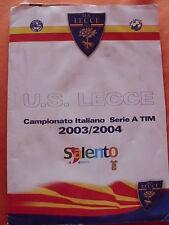 LECCE U.S. CALCIO CARTELLINA DISTINTA ARBITRI MATCH VS. ROMA 4/4/2004