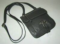 Banana Republic Dark Gray Leather Small Crossbody Bag Purse Pouch