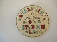 BADGE BLANC BLEU STADIUM 1958 ATHLETISME SPORT ATHLETICS wxc bte6