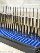 30 x THK Diamond 1mm CYLINDER rotary drills drill bit burr burrs 2.35mm shank