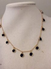 $98 Kate Spade Do Wonders  Jet Black With Gold Tone Necklace #406/SP-9