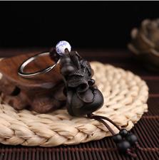 Gourd Black Sandalwood Car Keychain Keyring stereoscopic Sculpture Pendant gift
