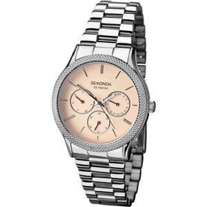 Sekonda Rose Gold / Peach Dial Stainless Steel Bracelet Ladies Watch 2091