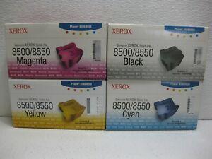 Xerox 8500 Ink Color Set Genuine 12 Cube 108R00669 108R00670 108R00671 108R00668