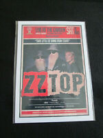 ZZ TOP : LIVE AT THE GARDEN : A4 GLOSSY REPRODUCTION POSTER
