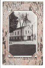 Vintage Postcard Berwick Maine ME Methodist Church School Street