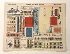 Pellerin Imagerie D'Epinal-No 306 Station de Bains de Mer G. vintage paper model