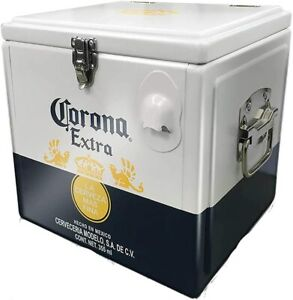 Official Corona Strong Aluminium Retro Cooler Box (With Bottle Opener)