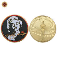 WR Hollywood Super Star Marilyn Monroe Gold Commemorative Signature Coin In Case
