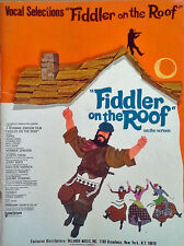 Fiddler On The Roof - Vocal Selections - 48 Page Songbook - 1971