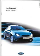 FORD PUMA 1.6 i 16V, 1.7 i 16V VCT e NERO vendita opuscolo Marzo 2001