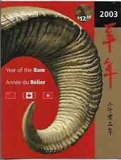 Hong Kong / China / Canada Thematic Collection -2003, Year of the Ram -MNH