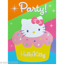 HELLO KITTY CUPCAKE INVITES and THANK YOU NOTES (8) ~ Birthday Party Supplies