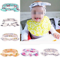 Baby Kids Flower Headband Knot Bow Turban Rabbit Ear Hair band Infant Headwear