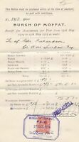 Burgh of Moffat 1924-1925 Receipt for Assessments Paid Cancel Invoice Ref 41479