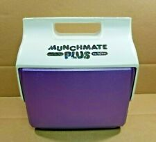 Vintage Munchmate Plus By Igloo Personal Lunch Box Small Cooler Purple & White