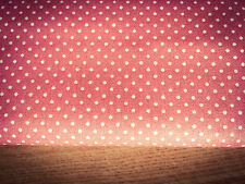 Shabby Chic Salmon Pink Spots 100% Cotton Fabric. Price per 1/2 meter
