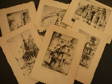 6 x ETCHINGS OF LONDON BY MAURICE VERDIER