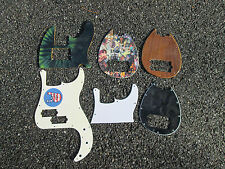 Lot of Six (6) Custom Bass Guitar Pickguard ! PARTS ! GREAT POTENTIAL !