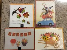 2 Papyrus & 2 Niquea.D Thanksgiving greeting cards with confetti