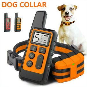 Elektroschock Pet Dog Training E-Halsband Anti-Bark Obedience Fernbedienun.