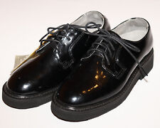 NEW-ROCKY Oil Resistant High Gloss Patent Dress Oxfords black lace up shoes  6W