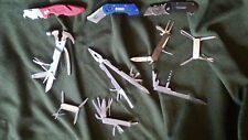 LOT of 10 MULTI-TOOLS and box cutters.  A few appear to be vintage inc Simmons.