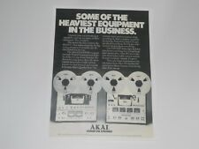 Akai Gx-630Dss, Gx-650D Pro Reel to Reel Ad, 1976, 1 Page Article and Info