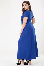 Women Plus Size V-Neck Formal Bridesmaid Cocktail Evening Party Gown Dress USA