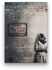 BANKSY? ALICE OUT OF WONDERLAND CANVAS PICTURE PRINT WALL ART FRAMED E10
