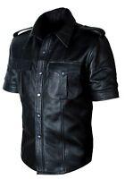 Mens Black Leather Blazer Jacket Genuine Real Lambskin Leather Coat7667890-=