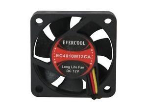 Evercool  40x40x10 mm Ball Bearing cooling fan 3-pin EC4010M12CA