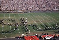 Kodak Slide 1950s Red Border Kodachrome Football Games Marching Band Spells Ohio