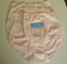 3 Dixie Belle by Velrose Full cut Briefs Style 719  Size 10 Pink
