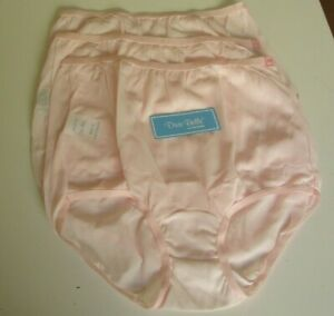 3 Dixie Belle by Velrose Full cut Briefs Style 719  Size 6 Pink